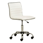 Heavy Duty White Channel-Tufted Conference Chair