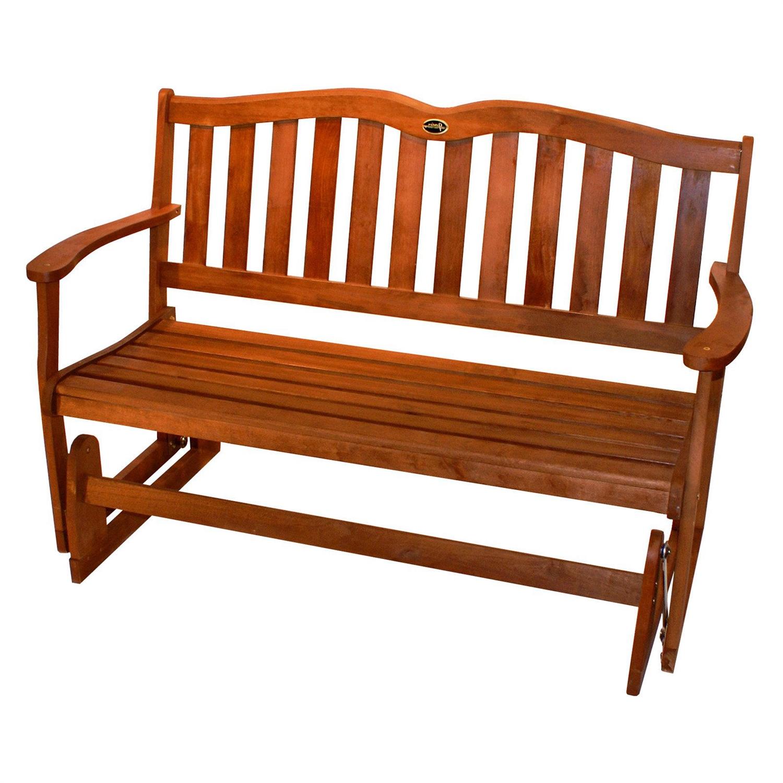 4 Ft Outdoor Patio Garden Love seat Glider Chair in Natural