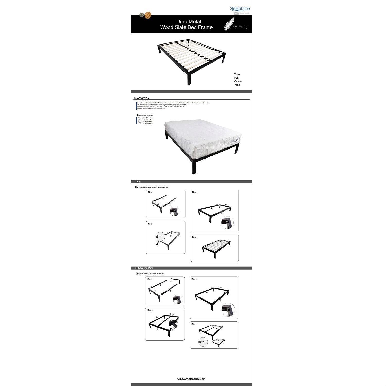 retail price 27900 - Metal Platform Bed Frame King