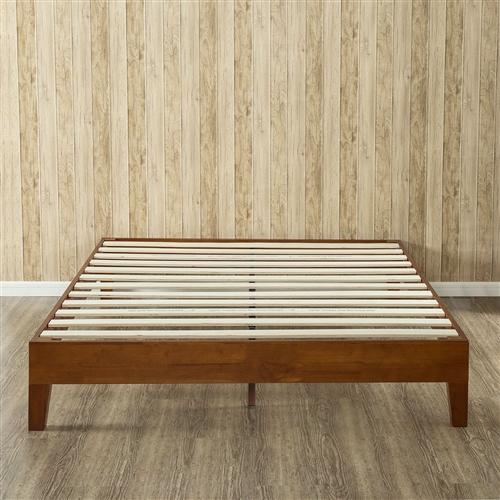 King Size Modern Low Profile Solid Wood Platform Bed Frame