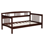 Twin size Solid Wood Day Bed Frame in Espresso Finish