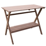 Indoor Outdoor Wood Potting Bench Garden Table with Lower Shelf