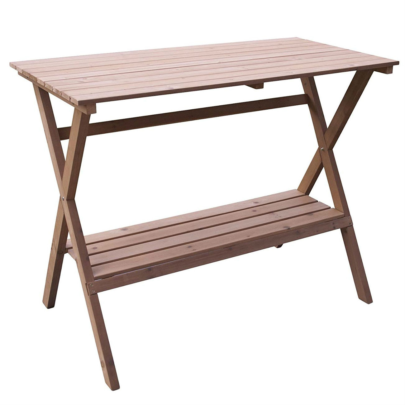 Awe Inspiring Indoor Outdoor Wood Potting Bench Garden Table With Lower Shelf Ocoug Best Dining Table And Chair Ideas Images Ocougorg