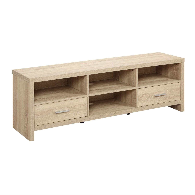 524fe050fb65 Light Wood-grain Modern 60-inch TV Stand Entertainment Center ...