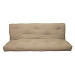 Full size 8-inch Thick Cotton Poly Futon Mattress in Khaki