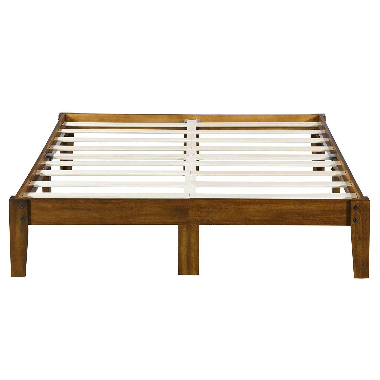 King Size Solid Wood Platform Bed Frame