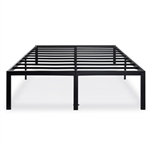 King 18-inch High Rise Heavy Duty Black Metal Platform Bed Frame