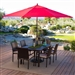 Outdoor Patio 11-Ft Market Umbrella with Red Shade Canopy