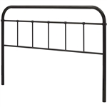 King size Vintage Dark Brown Metal Headboard with Rounded Corners