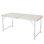 Multipurpose Indoor/Outdoor Lightweight Folding Table with Carry Handle