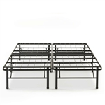 King size Folding Sturdy Metal Platform Bed Frame with Storage Space