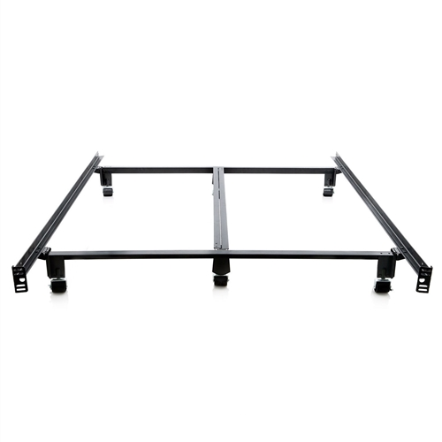 King Size Heavy Duty Metal Bed Frame With Locking Rug