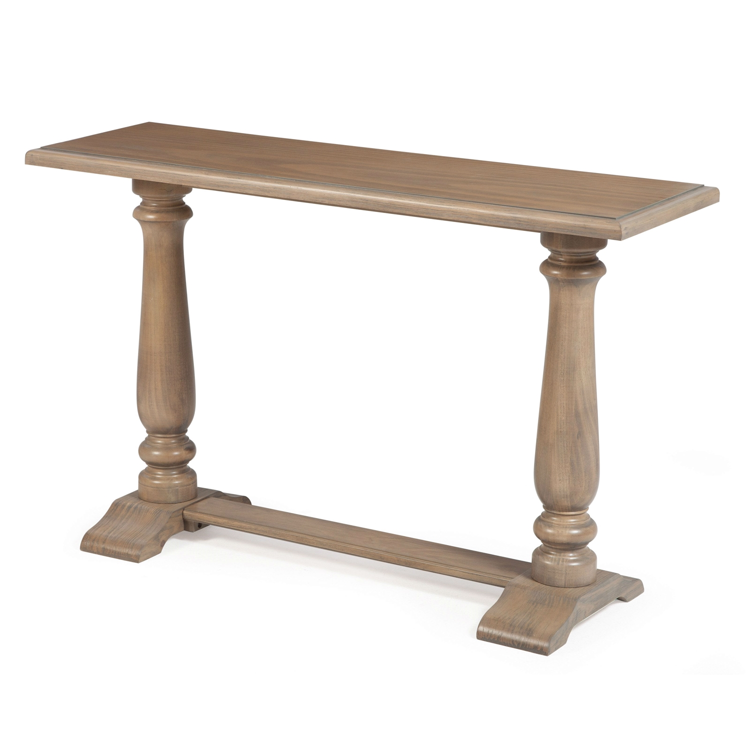 Driftwood Contemporary Clic Console Sofa Table With Pedestal Legs