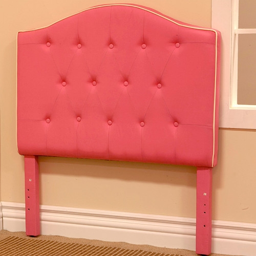 Twin Size Light Pink Fabric Upholstered Headboard