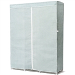 Light Blue 68-inch Portable Wardrobe Closet Clothes Storage Unit