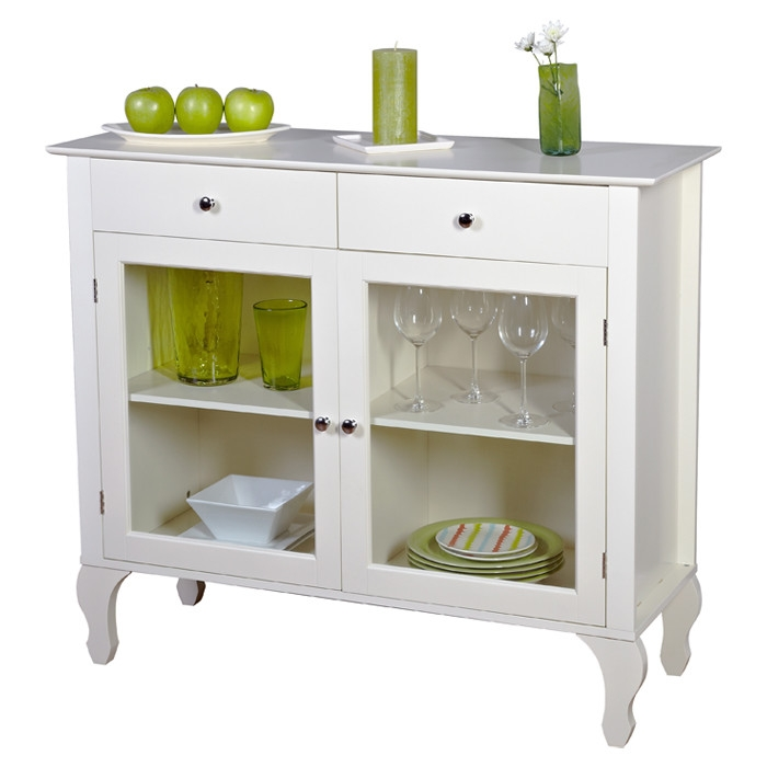 Astounding Antique White Sideboard Buffet Console Table With Glass Doors Home Interior And Landscaping Mentranervesignezvosmurscom