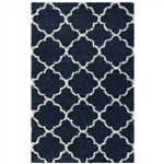 "5'1"" x 7'6"" Shag Extra Plush Geometric Indoor Blue/Beige Area Rug"