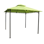 10Ft x 10Ft Weather Resistant Gazebo with Lime Green Canopy