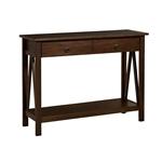抽屉控制台沙发桌客厅储物架,烟草棕色
