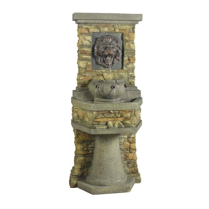 Indoor / Outdoor Water Fountain with Bronze Hued Lion Head