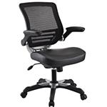 现代黑色网状人体工学办公椅,带翻转式扶手
