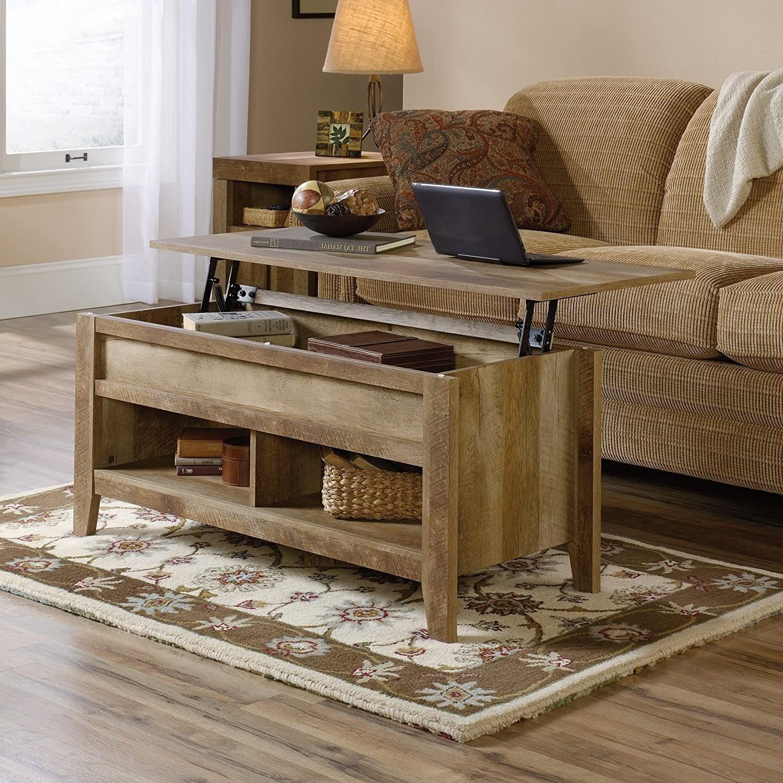 Rustic Farmhouse Oak Lift Top Coffee Table Fastfurnishings Com [ 1500 x 1500 Pixel ]