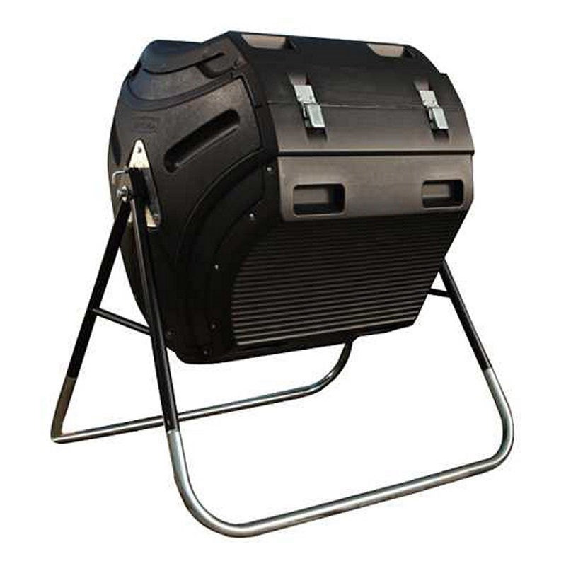 Heavy Duty HDPT Plastic 10 cubic ft. Compost Bin Tumbler with Steel Stand