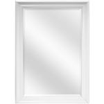 大型矩形浴室壁挂镜,带白色框架x英寸