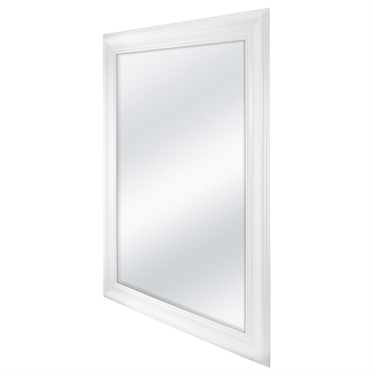 Large Rectangular Bathroom Wall Hanging Mirror with White Frame - 42 ...