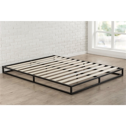 King Size 6 Inch Low Profile Metal Platform Bed Frame With