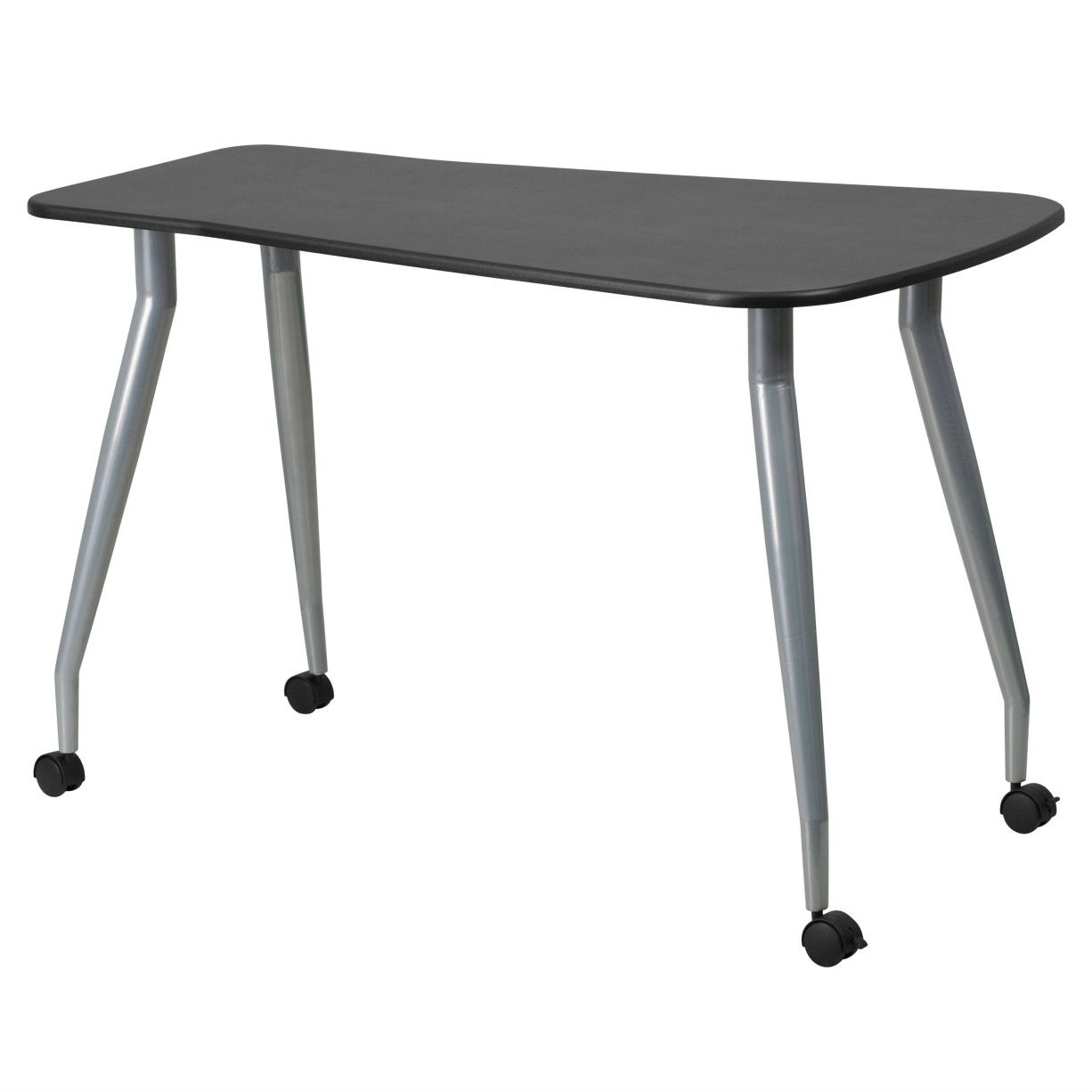 - Modern Computer Desk Mobile Office Table With Locking Casters