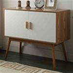 世纪末现代带实木脚的玄关桌储物柜