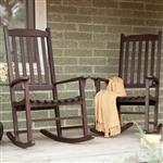 室内室外露台门廊暗棕色板岩摇椅一套