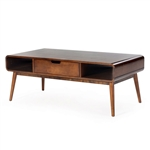 Mid-Century Modern Classic Coffee Table in Walnut Wood Finish