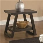 Modern End Table in Dark Brown Cappuccino Finish