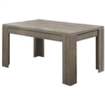 Modern 60 x 36 inch Dark Taupe Rectangular Dining Table