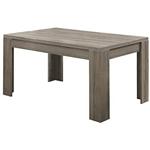 现代x英寸深色灰褐色矩形餐桌