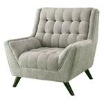 灰色软垫雪尼尔中期簇绒软垫扶手椅