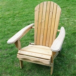 Folding Adirondack Chair in Natural Wood Finish