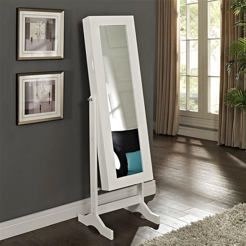 Modern Jewelry Armoire Full Length Tilting Cheval Mirror