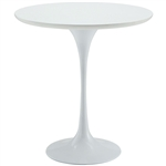 Mid Century Modern Classic 20-inch Round Side Dining Table in White