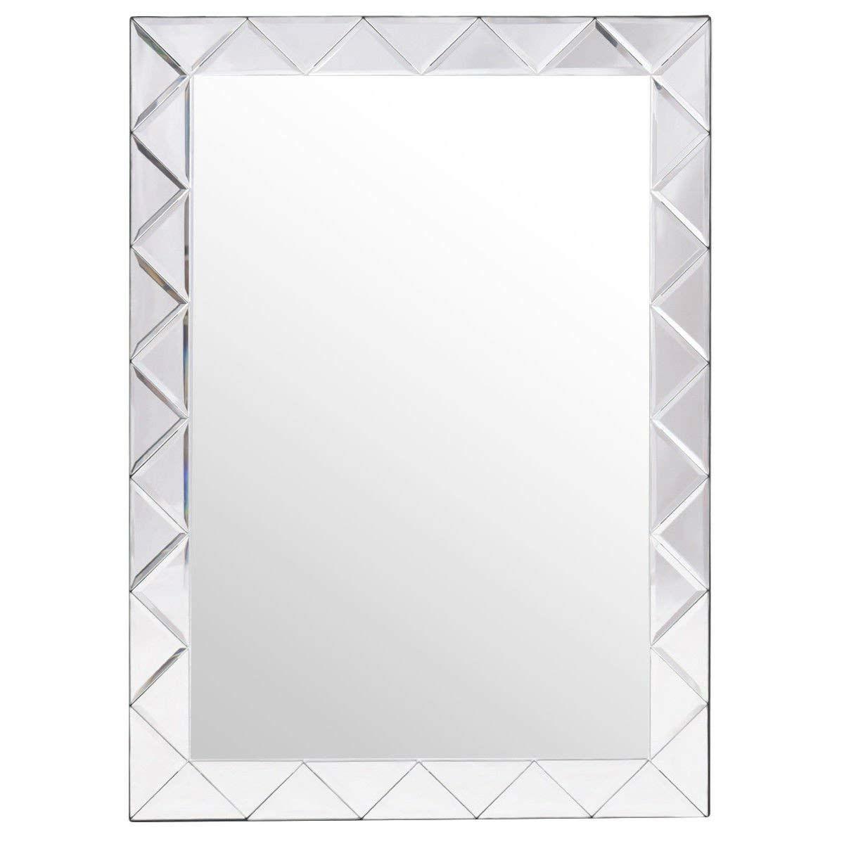 Modern Rectangle 30 X 21 Inch Beveled Bathroom Wall Mirror