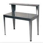 Outdoor Galvanized Metal Garden Bench Work Table