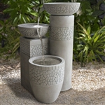Modern 3-Tier Concrete Cast Stone Fiberglass Bowl Water Fountain