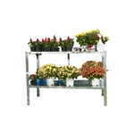 Outdoor Metal Shelving Unit Garden Potting Bench in Sturdy Galvanized Steel