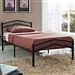 Twin size Black Metal Platform Bed with Headboard and Footboard