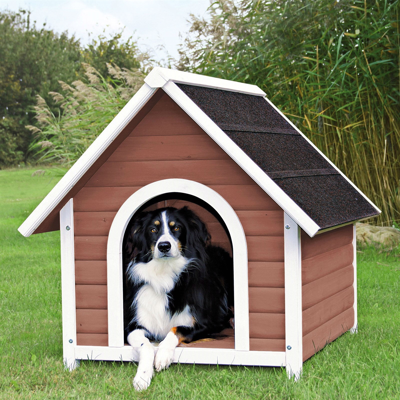 Medium 31.5-inch Outdoor Doghouse with Asphalt Shingles