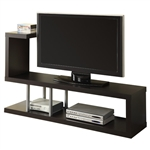 Modern Entertainment Center TV Stand in Cappuccino Finish