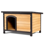 Medium Fir Wood Log Cabin Style Outdoor Dog House