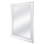 Rectangular 32 x 26 inch Bathroom Wall Mirror with 1-inch Bevel and White Frame